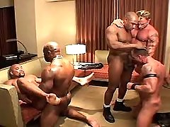 Muscle gay men crazy fuck in group