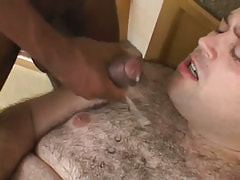 Lusty hairy man gets hot cumload