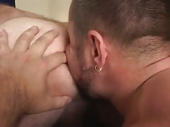 Bear gay guy licks out hairy males fissure